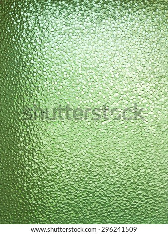 Textured sheet of green glass with small drops seamless pattern - stock photo