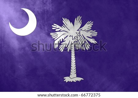 Textured South Carolina Flag with moon beam