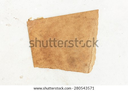 Textured striped cardboard with torn on floor - stock photo