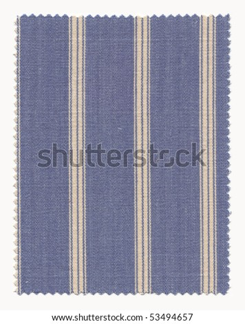 Textured Striped Cotton Fabric Swatch