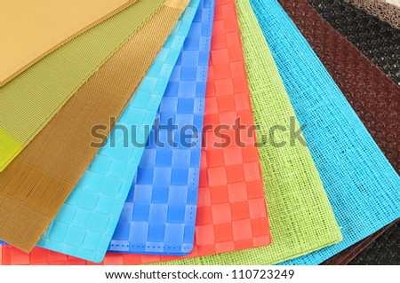 Textured swatches. - stock photo