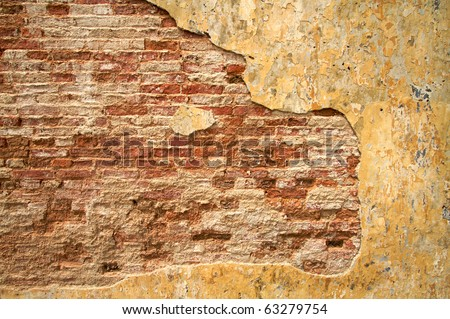 Textured urban wall, plenty of room for text - stock photo