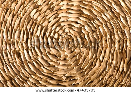 Textured wicker surface - stock photo