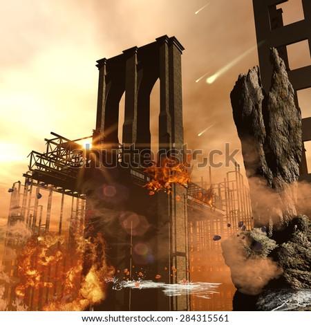 Th apocalypse in the city - stock photo
