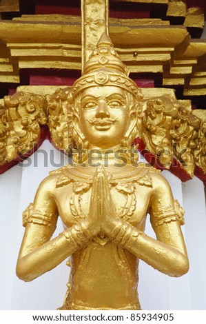 Thai angel statue in Temple