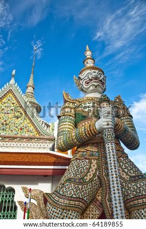 Thai antique giant - stock photo