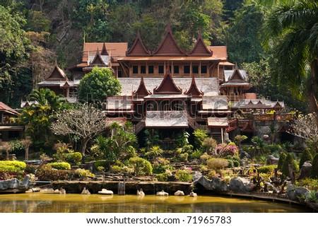 Thai architecture - stock photo