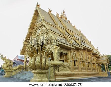 Thai art  at Si Phan Ton Temple , Nan Province ,Thailand. - stock photo
