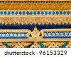 Thai art in the temple - stock photo