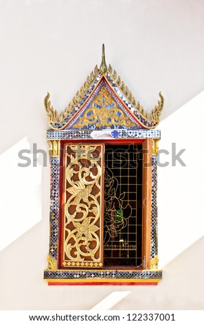 Thai art wooden window