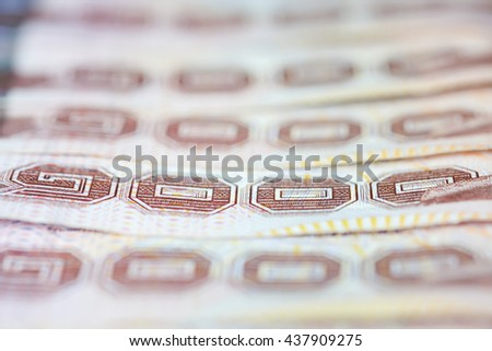 Thai Baht currency background, thousand baht banknote, Currency of THAILAND, Money and Banknote background concept - stock photo
