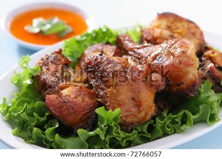 Thai BBQ Chicken - stock photo