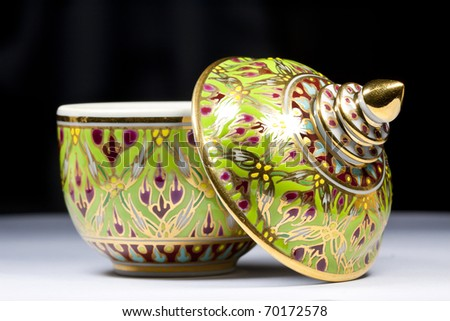 Thai bowl design - stock photo