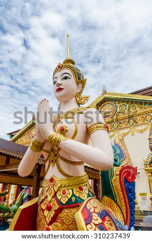 Thai Buddhist Temple in Georgetown, Penang Malaysia - stock photo