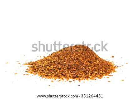 Thai cayenne pepper isolated on white background