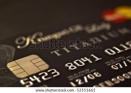 thai credit card closeup - stock photo