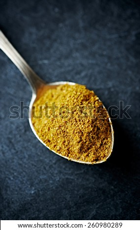 Thai curry powder (hot) - stock photo