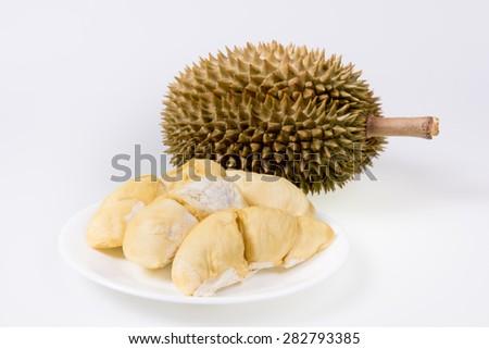 Thai delicious fresh durian - stock photo