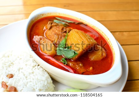 Thai delicious massaman curry as world class favorite food - stock photo