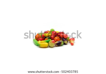Thai Dessert/ Thai Sweet/Dessert plating Thailand with white background