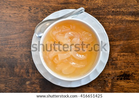Thai dessert - toddy palm in syrup  - stock photo