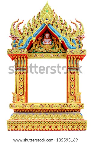 Thai Door Frame Isolated .