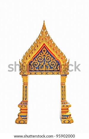Thai Door Frame Isolated - stock photo