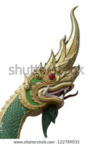 Thai dragon isolated on white background