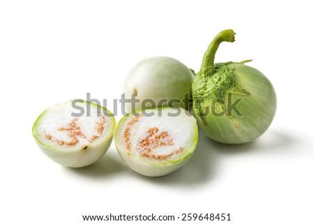 Thai eggplant isolated on white - stock photo