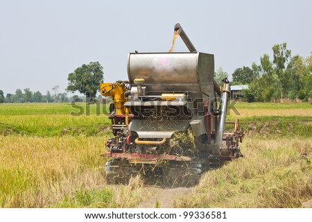 Thai farmers are using. Harvest is harvested. - stock photo