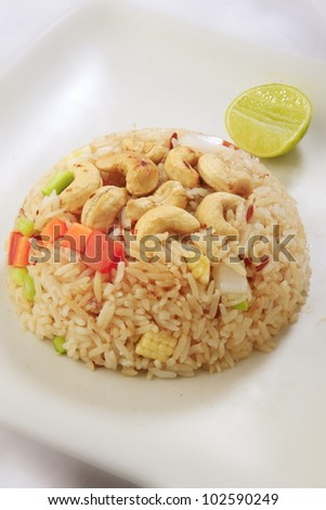 Thai fired rice with cashew. - stock photo