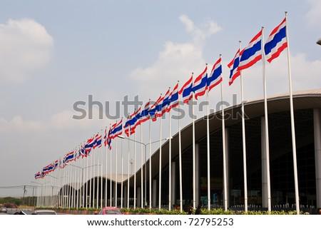 Thai flag. - stock photo