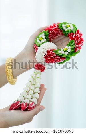 Thai Flower Garland  - stock photo