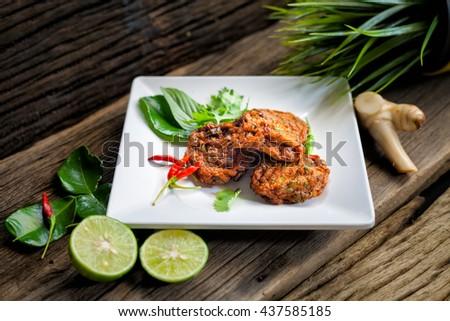 Thai Food Curried Fish Cake Fish Cake Tod Mun Pla