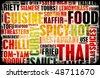 Thai Food Menu Art Background in Grunge - stock photo