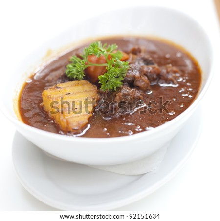 Thai food pork curry - stock photo