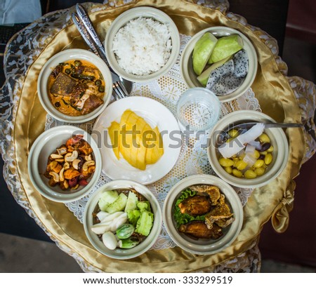 Thai Food Set In Ceremony