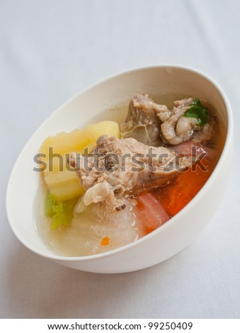 Thai food soup - stock photo