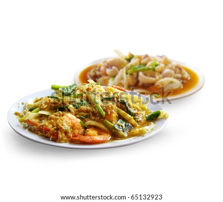 Thai food spicy curry - stock photo
