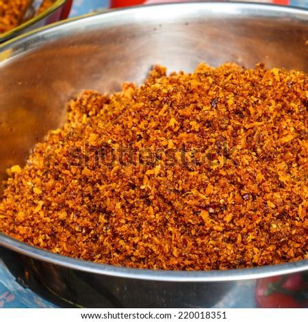 Thai food vegetarian mix in market - stock photo