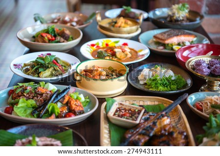 Thai foods. - stock photo