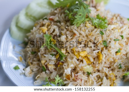 Thai fried rice with crab