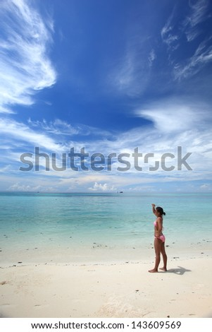 Thai girl on the beach