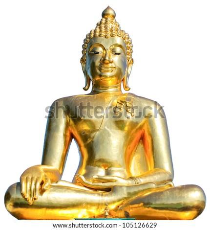 Thai Golden Buddha Statue. Buddha Statue in Thailand - stock photo