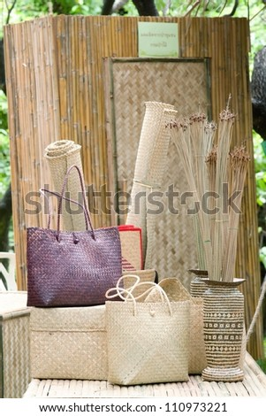 Thai handcraft - stock photo