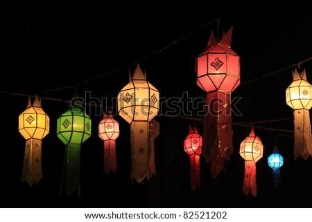 thai lamp - stock photo