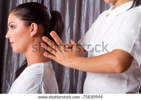 Thai massage - stock photo