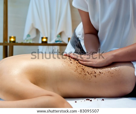Thai Massage in spa room. - stock photo