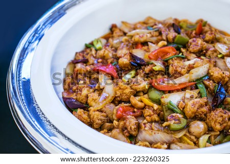 Thai meat with vegetables