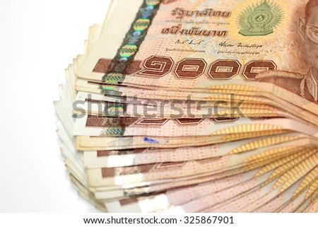 Thai Money, Thai Currency 1000 Baht - stock photo